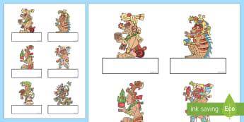 Mayan Editable Self Registration - Editable Self Registration (Cupcakes)- Self registration, register, editable, labels, registration,