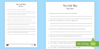 Cold War Pop Quiz - Conflict, Russia, Cold War, Space Race, Berlin Wall