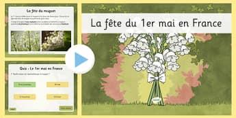 La fête du 1er mai en France PowerPoint - french, la fete du 1er mai, france, powerpoint, 1st of may