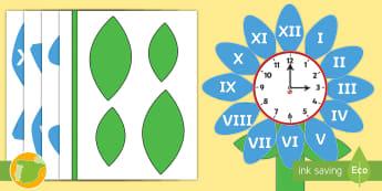 Imágenes de exposición: Reloj analógico - Los números romanos  - numeración romana, la hora, el tiempo, relojes, mates, decoración, flor,Spanish