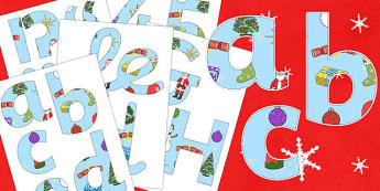 Merry Christmas Display Lettering - Christmas, xmas, Display lettering, display letters, alphabet display, letters to cut out, letters for displays, coloured letters, coloured display, coloured alphabet, tree, advent, nativity, santa, father christma