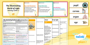 Y6 The Illuminating World of Light: Activity Plan 2 PlanIt Guided Reading Pack - The Illuminating World of Light, guided reading, emily sohn, book title, reading, Y6, Year 6, carous