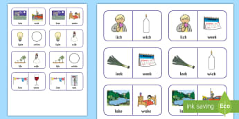 'l' and 'w' Minimal Pair Dominoes - speech sounds, minimal pairs, articulation, phonology, speech and language, speech therapy
