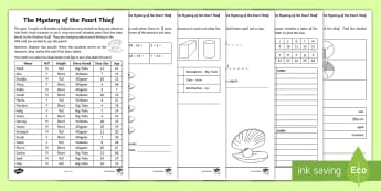 The Mystery of the Pearl Thief Maths Game - pearl, diving, mystery, math, activity