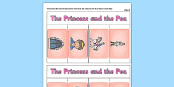 The Princess and the Pea Story Writing Flap Book - story, book