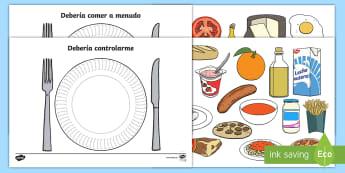 Tarjetas de clasificar: La comida - comer sano, comida sana, comer saludable, comida saludable, fruta, verdura, dieta saludable, dieta s