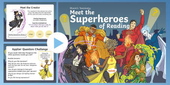 Bloom Superheroes - Kangaroo Kid PowerPoint - Blooms Taxonomy, comprehension,  During Reading, After Reading, Guided Reading,  HOTS, Higher Order
