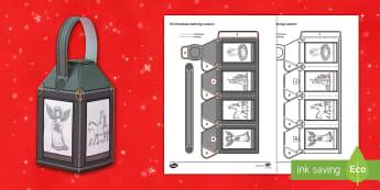 Christmas Nativity Mindfulness Lantern - Christmas, Nativity, Jesus, xmas, Xmas, Father Christmas, Santa, St Nic, Saint Nicholas, traditions,