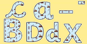 Edward Jenner Themed Display Lettering - edward jenner, display lettering, themed lettering, classroom lettering, lettering, letters, letters for display