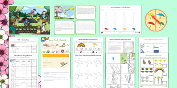 Spring K-2 Printable Resource Pack - Spring, First day of Spring, Writing, story