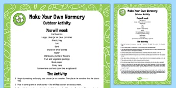 Make Your Own Wormery Outdoor Activity - EYFS, Early Years, minibeasts, creepy crawlies, garden, understanding the World