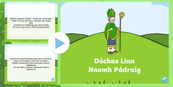 Amhrán: Dóchas Linn Naomh Pádraig - religion, Gaeilge, reiligiún, creideamh, St.Patrick, Song, Lyrics