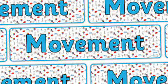Movement Display Banner - movement, movement banner, movement display header, movement display, movements, movement display resource, ks2 science display