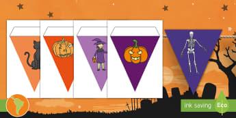 Banderitas de exposición: Halloween - Halloween ,banderines, banderas, banderitas, dia de brujas, noche de brujas