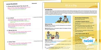 PlanIt - French Year 6 - All in a Day Planning Overview - french, languages, grammar, time, o'clock, half past, quarter past, quarter to, 24 hour
