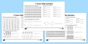 Year 3 Times Table Activity Pack