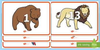 Numbers 0 to 20 on Zoo Animals Display Posters - EYFS, Early Years, Key Stage 1, KS1, Zoo, Animals, Maths, Mathematics, Numeracy, Number Recognition,