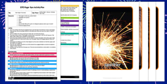 EYFS Filter Paper Fireworks Finger Gym Plan and Resource Pack