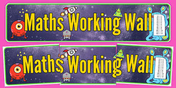 Space Themed Maths Working Wall Display Banner - space, maths, working wall, display banner