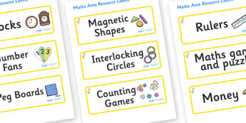 Duckling Themed Editable Maths Area Resource Labels - Themed maths resource labels, maths area resources, Label template, Resource Label, Name Labels, Editable Labels, Drawer Labels, KS1 Labels, Foundation Labels, Foundation Stage Labels, Teaching La