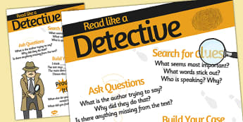 Be a Detective Reader Poster - detective, display poster, display