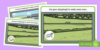 Trains Playdough Mat