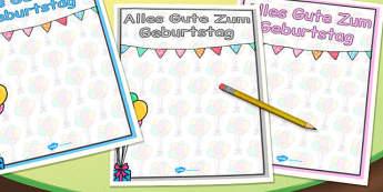 German Happy Birthday Posters - german, display posters, birthday