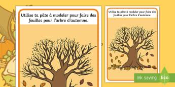 Set de pâte à modeler : L'arbre d'automne - Arts Plastiques, Motricité Fine, Activité Physique, Cycle 1, Cycle 2