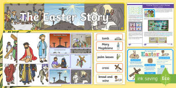 The Easter Story Discover and Learn Display Pack - KS1 Easter 2017 (16th April), easter story, jesus, bible stories