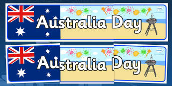 Australia Day Display Banner - Australia, Australia Day, Display banner, poster, display, kangaroo, wallaby, kookaburra, wombat, crocodile, koala, possum