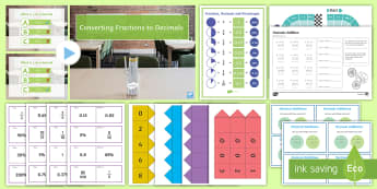 Decimals Catch-Up Resource Pack - maths, decimals, catch-up, intervention, low ability