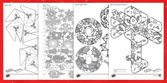 Christmas Decorations Mindfulness Coloring Activity Pack - Christmas, color, coloring, cut and paste, decorations, art, mindfulness, crafts