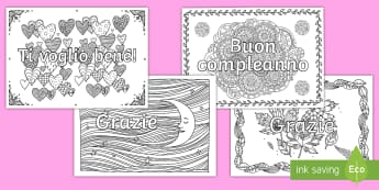 Meditare colorando gli auguri Fogli da colorare - colorare, fogli, da, colorare, meditando, in, solienzio, colori, italiano, italian, materiaLE, scola