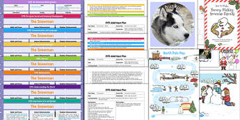EYFS Lesson Plan Enhancement Ideas and Resources Pack to Support Teaching on The Snowman - Early Years, continuous provision, early years planning, Winter, Christmas, story, The Snowman, Raymond Briggs