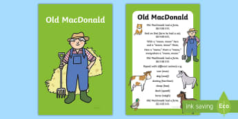 Old MacDonald Had a Farm Nursery Rhyme IKEA Tolsby Frame - baby signing, baby sign language, communicate with baby, pre verbal baby, tiny talk, sing and sign,