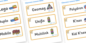 Camel Themed Editable Construction Area Resource Labels - Themed Construction resource labels, Label template, Resource Label, Name Labels, Editable Labels, Drawer Labels, KS1 Labels, Foundation Labels, Foundation Stage Labels