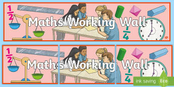 LKS2 Maths Working Wall Display Banner - display, reminders, examples, strategies, number, calculations