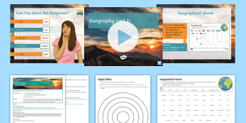 Geography and Me! Lesson Pack - Secondary Transition Resources, geography, vocabulary, year 7