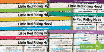 EYFS Little Red Riding Hood Lesson Plan and Enhancement Ideas