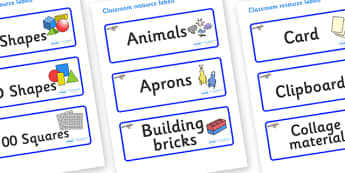 Jay Themed Editable Classroom Resource Labels - Themed Label template, Resource Label, Name Labels, Editable Labels, Drawer Labels, KS1 Labels, Foundation Labels, Foundation Stage Labels, Teaching Labels, Resource Labels, Tray Labels, Printable label