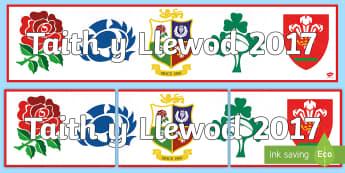 Baner Arddangosfa Taith y Llewod 2017 - Taith y llewod, lions, rugby, rygbi, chwaraeon, sports, Cymru, Wales, British, Prydain,Welsh