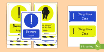 Space Ship Role Play Warning Display Posters - poster, display, space, rocket, role play, space ship