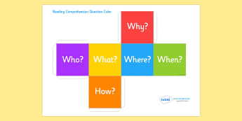 Comprehension Question Cube - comprehension, question, wisual aid