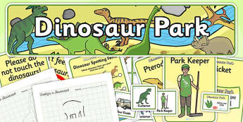 Dinosaur Park Role Play Pack - dinosaur, role play, role play pack, resource pack, role play badges, role play banner, role play display photos, pack