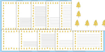 Aspen Tree Themed Page Borders - aspen tree, themed, page borders, page, borders, aspen, tree