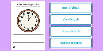 Clock Matching Activity - ESL Telling the Time Resources