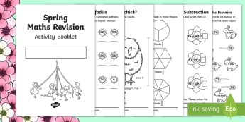 SATs Survival KS1 Spring Revision Maths  Booklet - SATs, Maths, KS1, Year 2, revision, easter,spring, mahts, homework, booklet, worksheet, activity