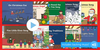 Christmas Themed Songs and Rhymes PowerPoints Pack