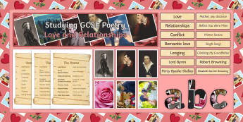 GCSE Poetry AQA Love and Relationships Cluster Display Pack