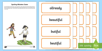 Outdoor Spelling Mistakes KS1 Game - outdoor learning, outdoor literacy, literacy, spelling, language,Scottish